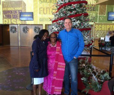 Mama, her daughter Faith Njoki and Pastor Linn Winters of Cornerstone AZ